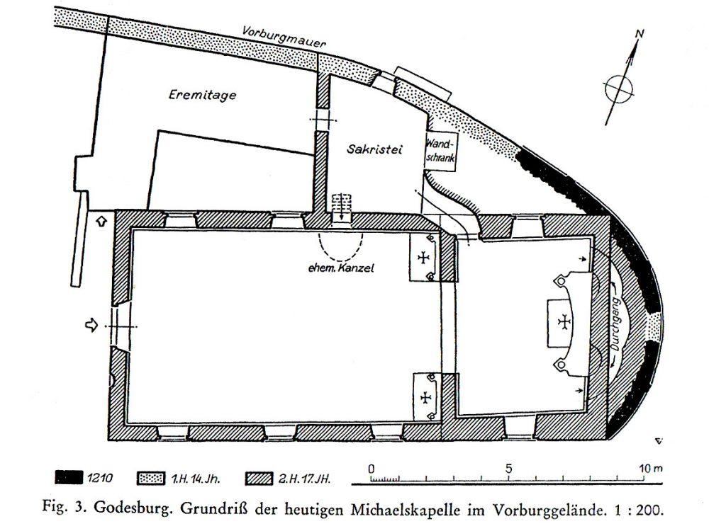 Grundriss der Michaelskapelle, Foto: Stadtarchiv und Stadthistorische Bibliothek Bonn